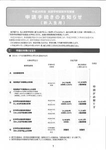 就学支援金申請手続きのお知らせ(1年生用)