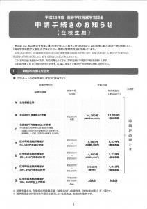 就学支援金申請手続きのお知らせ(2・3年生用)